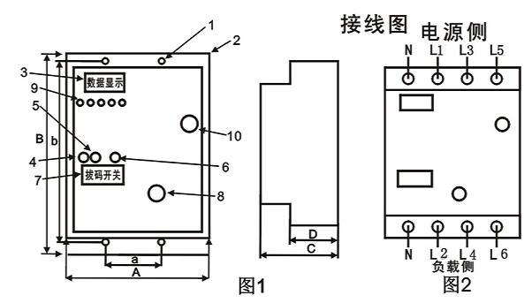 sheng余电流lou电保护qiSDZL-250接线图